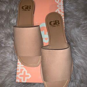 GB cream sandals